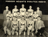 Madison Heights High School Basketball team, 1956-57