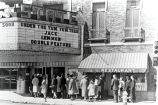 State Theater, movie line, Anderson, Ind.