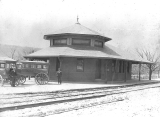 Old Railroad Depot-West First Street between Vine and Mill Streets-621 West First Street