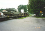 Army Tanks on Train