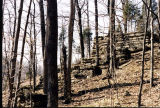 Trestle Footings in Clifty Falls State Park