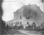 Railroad Employees at Freight Depot