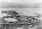 Madison Water System-Laying Pipes in the Ohio River-View 1