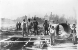 Madison Water System-Laying Pipes in the Ohio River-View 2