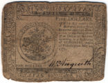 Spanish milled dollar, continental currency, Philadelphia, Pennsylvania, May 20,  1777