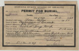Burial permit Giles, Lou